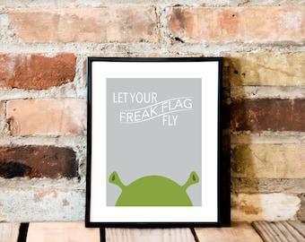 Freak Flag Art Print