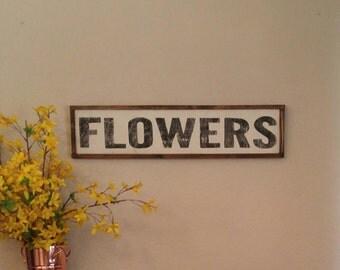Florist Sign, Flowers Sign, Perennials Sign, Farmhouse Style,  Rustic Wall Decor, Farmhouse Decor