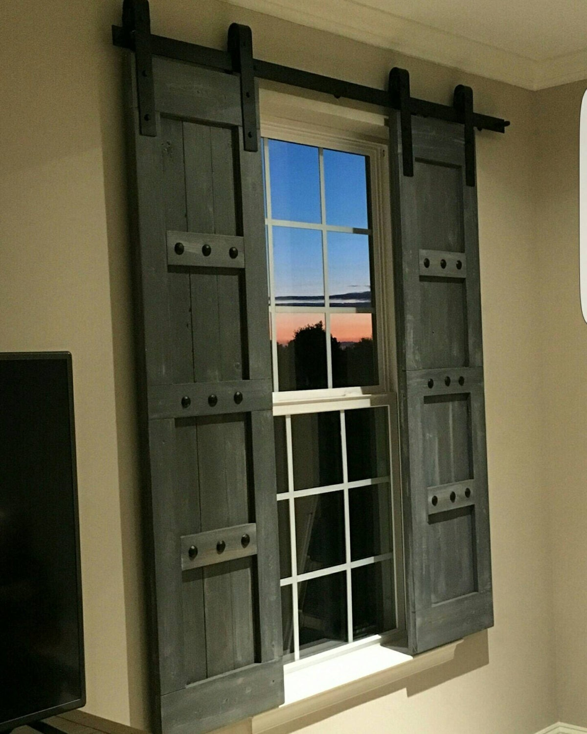 interior window barn door sliding shutters barn door shutter hardware packages available farmhouse style rustic wood shutter - Shutter Hardware