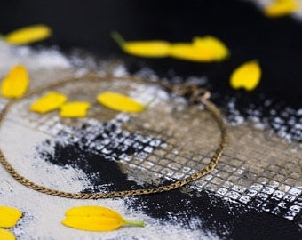 Delicate 10K Gold Chain Bracelet