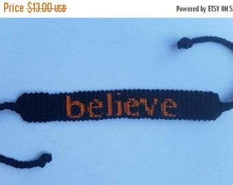 ON SALE Believe friendship bracelets.