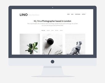 80% OFF - Lino - Wordpress Portfolio Theme - Premade - Self Hosted - Wordpress Theme for Creatives - Responsive