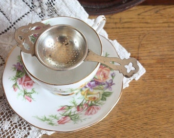 Tea Strainer Lewbury Silver Plate ~ High Tea Wedding Gift for Her