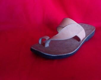 Flip flop leather sandals