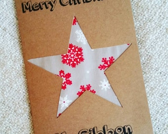 Handmade Personalised Merry Christmas Teacher Card