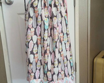 Birds of a FEATHER pillowcase dress