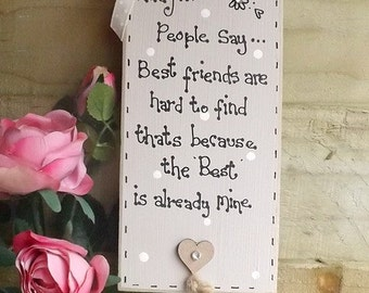 Handmade personalised friends plaque sign