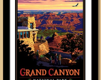 Grand Canyon National Park, Lookout Studio. Framed 16x20 Giclee print.