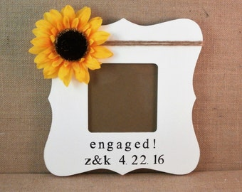 Newly engaged gift, custom frame, Engagement gifts for best friend, fiance, sister