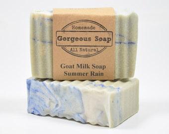 Summer Rain Goat Milk Soap - All Natural Soap, Handmade Soap, Homemade Soap, Handcrafted Soap