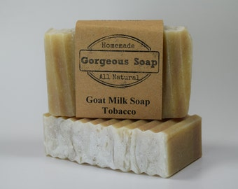 Tobacco Goat Milk Soap - All Natural Soap, Handmade Soap, Homemade Soap, Handcrafted Soap