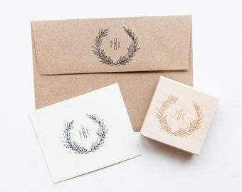 Custom Monogram Stamp // Wedding Favor Stamp // Rustic Wedding // DIY Wedding //  Poppi Paper Co