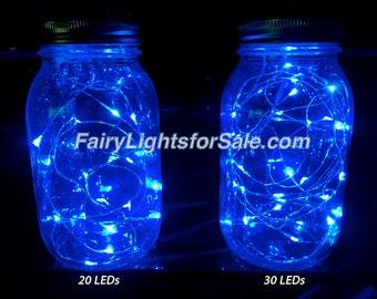 3m/9.8ft 1 set Blue 30 LED fairy light string strand cr 2032 battery for DIY, centerpiece, vase, wedding, costume, rave, EDM, event, micro