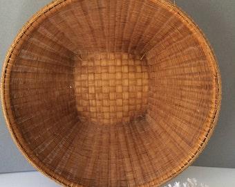 Vintage winnowing basket | wall basket | bamboo basket | rice basket | Asian basket | coastal decor | beach decor