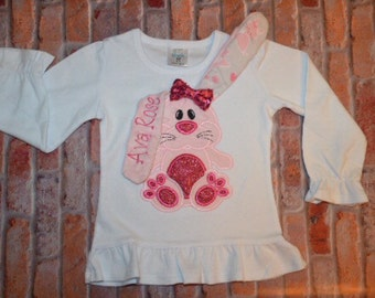 Sale Sale!!3D Easter Spakle  Bunny Shirt
