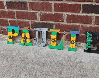 Ninja Turtle Wooden Letters