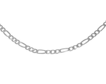 ON SALE Italian 24 inch Figaro Chain Sterling Silver .925 Made in USA