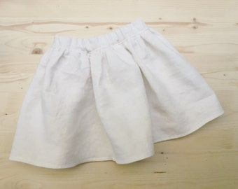 White linen baby skirt girls size 2T