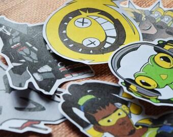 SALE***Junkrat, Reaper, and Lucio Sticker Sets