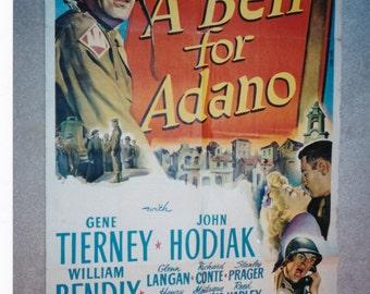 A Bell FOR ADANO Movie POSTER 27x41 Gene Tierney John Hodiak William Bendix  Glenn Langan, Richard Conte, Stanley PragerHenry King