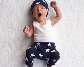 Navy Star print Child & Baby Leggings