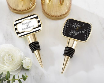 Personalized Gold Bottle Stopper with Epoxy Dome Classic Wine Stoppers Winery Great Gatsby Favors Wedding Keepsake Thank You Gift Favors
