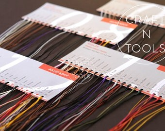Sample Cards of RITZA 25 Tiger Waxed Thread in 4 sizes/Waxed Polyester Thread/Handsewig Leather/Saddle Sewing/Ritza Tiger