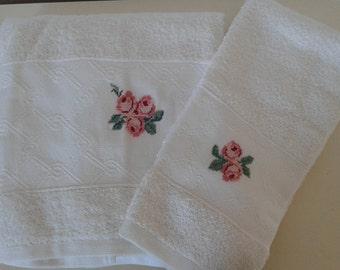 roses towels