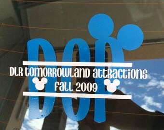Disney College Program car decal vinyl sticker
