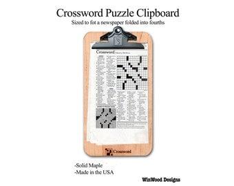 Crossword Puzzle Clipboard