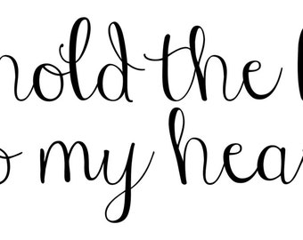 you hold the keys to my heart decal - love sticker, wall art, home decor