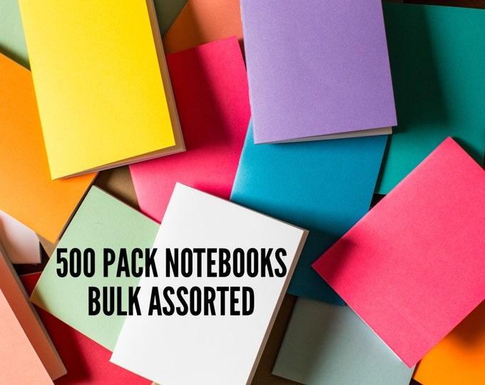 Bulk Notebooks 500 Pack journal Handmade Pocket Journals, Mini Diaries, Jotters, Blank Books, notebook supply, FREE U.S. SHIPPING