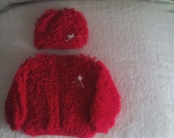 Baby Girl sweater, knitted sweater, baby sweater,girl sweater, newborn girl sweater, newborn sweater 6-12 months,  ready to ship