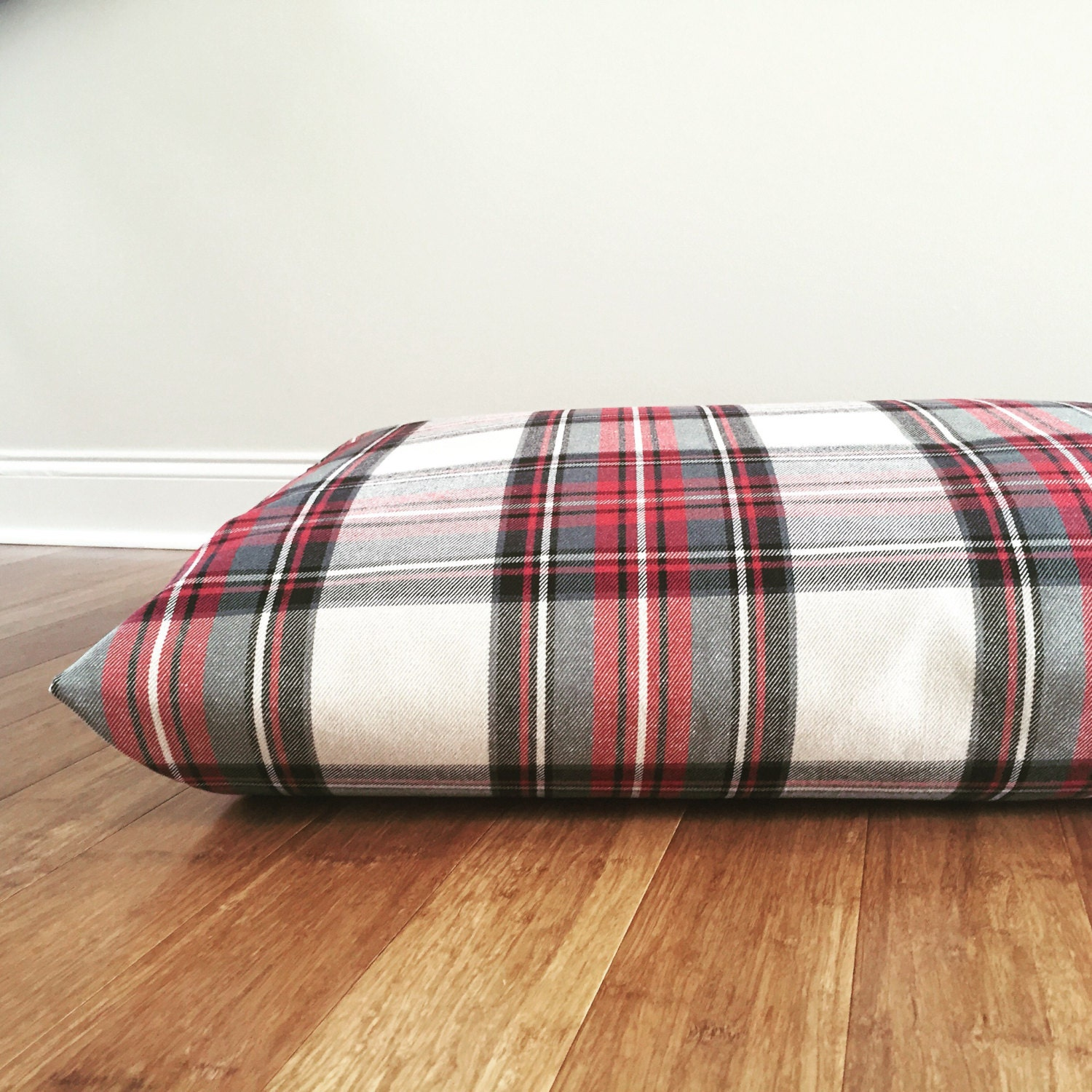 Plaid Dog Bed Cover Red Plaid Dog Beds Cover Christmas Dog