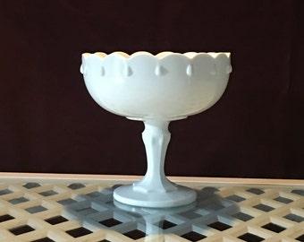WEDDING | Milk Glass Compote | Teardrop