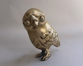 Cute Brass Owl Sculpture