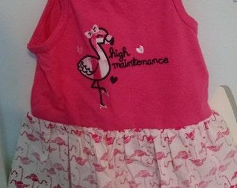 Baby girl flamingo dress 18m