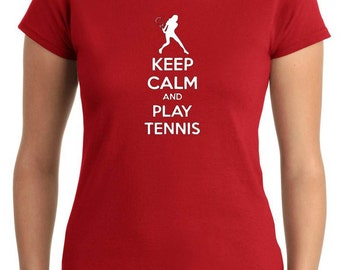 T-shirt Woman OLDENG00763 keep calm and play tennis (3)