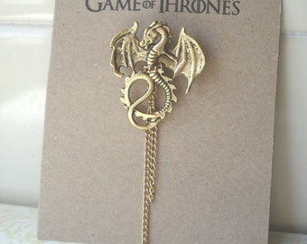 Handmade Brooch GAME OF THRONES Targaryen Dragon