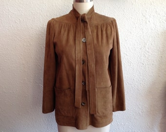 1970s suede jacket with bell sleeves