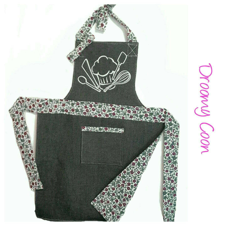 tablier de cuisine pour petite fille id al pour aider maman. Black Bedroom Furniture Sets. Home Design Ideas