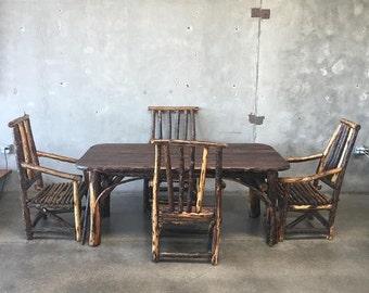 1930u0027s old hickory bark dining set from z124vh