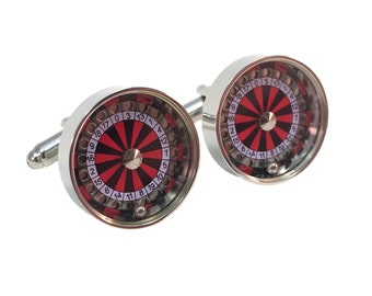 Casino Roulette Wheel Cuff Links