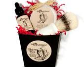 Men's Shaving Gift Box, Shaving Set, Shaving Kit with Shave Brush,  Gift For Him, Groomsmen Gift, Father's Day Gift, Shaving and Grooming