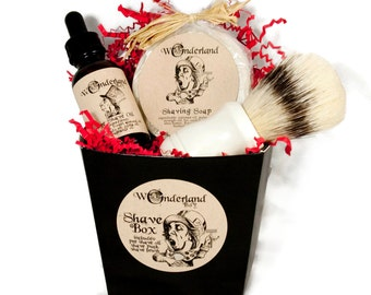 Men's Shaving Gift Box, Shaving Set, Shaving Kit with Shave Brush,  Gift For Him, Groomsmen Gift, Father's Day Gift, Shaving and Grooming