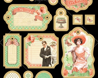 Graphic 45 Time To Celebrate Chipboard, SC007376