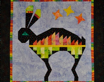 Quilted Wall hanging Mimbres Rabbit