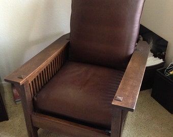 Gustav Stickley Antique Morris Chair from Arts and Crafts Period - Authentic and Original