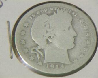1914 P Barber Quarter (GP83)