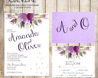 Amethyst Wedding Invitations